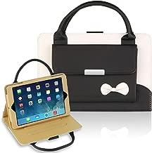 GEMWON Case for IPad Mini 1/2/3/4, Cute Handbag Case for Women,Protective PU Leather Three Angles Holder Cover with Auto Sleep/Wake Function for IPad Mini 1/2/3/4 - Black