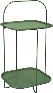 LEITMOTIV Table, Acier, Foncé Vert, H 70 cm