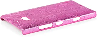 iCues   Compatible with Nokia Lumia 930   Chrome Flower Case Pink   [Screen Protector Included] Floral Cover Crystal Diamo...