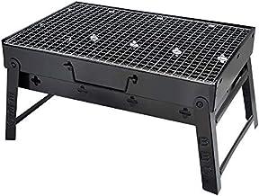 Locisne Barbacoa de Barbacoa Plegable portátil Parrilla de carbón para 3-4 Personas, Parrilla de Acero Negro para Acampar, Picnic, Cocinar en la Mesa, Viajar a la Fiesta en el jardín