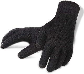 Winter Autumn Men Knitted Gloves Touch Screen Male Thicken Warm Wool Cashmere Solid Gloves Men Mitten Business Men Mittens Mens Knit Gloves Touch