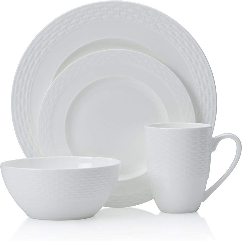 Mikasa Ortley 16 Piece Bone China Dinnerware Set Service For 4