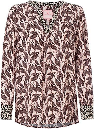 Lieblingsstück Langarm Bluse FARINAL Rundhals Blätter Muster schwarz Größe 46