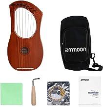 Honeytecs munição Pequena Corda de 7 cordas Lyre Harpa Piano Cordas de fio de aço Corpo de madeira compensada de mogno Fol...