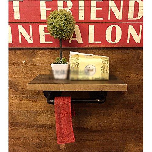 Plank Wandplanken Retro LOFT Pijpbeugel Wandopknoping Retro Muren Kledingrek Om Oude Effen Houten Plank Retro decoratie