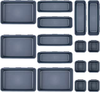Gvoo Organiseur de tiroirs multifonction pour tiroirs - 16 boîtes de rangement pour cuisine, bureau, coiffeuse.
