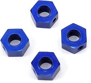 Traxxas Wheel Adapters/12mm Hex/Alum BL Andized-4/Screw Pins-4/Drill Bit/0.25