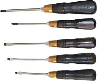 Narex 5 Piece Screwdriver Set with Beech Handles w/ Philips #1 and #2 and Straight Slot #1, #2 and #3 858000