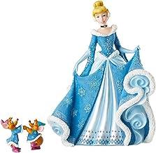 """Enesco Disney Showcase Holiday Cinderella with Mice, 6002181, Calcium Carbonate Polyresin, Multicolor, 8.46"""""""