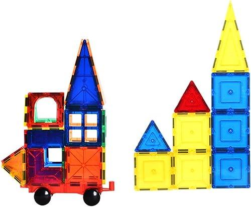 WUYEA 82 TLG Satz Magnet Constructor Bausteine  ranSpaßente Fliesen Magnetische Lernziegelsteine   gogisch für Kinder