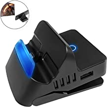 Defway Switch Dock, Portable Switch Charging Stand, Compact Switch to HDMI Adapter, Switch Docking Station with 2 Extra USB Ports, Replacement Charging Dock for Nintendo Switch with USB C Power Input