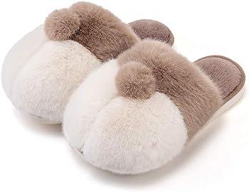 Posee Unisex Fuzzy Corgi Slippers