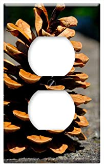 Switch Plate Outlet Cover - Pine Cones Pine Tree Tap Close Conifer Macro 1