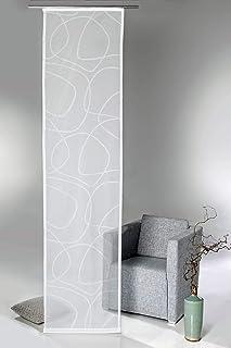 comprar comparacion heimtexland® – Cortina para panel japonés, diseño abstracto, incluye accesorios, 60 x 245 cm, color blanco natural, tipo 595