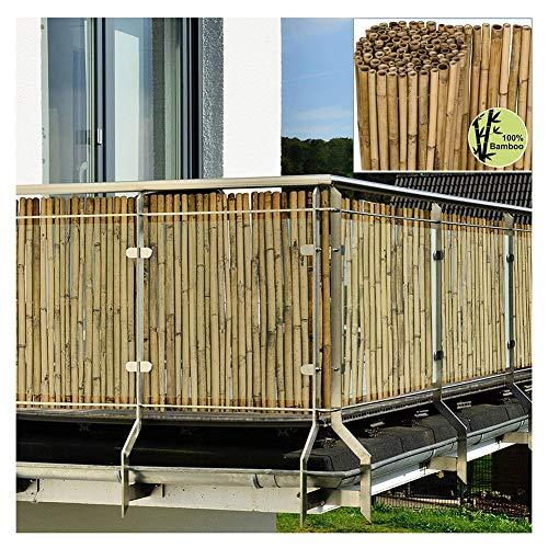 Balkon Sichtschutz Schutz Bambuslatte Datenschutzbildschirm Natürlicher Gartenzaunschild Wind- Und Sonnenschutz Abdeckung Von Balkonen Als Raumteiler Oder Dekorplatte Lsxiao