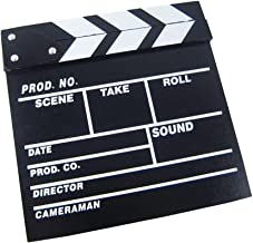 Clapper Board Odowalker Black Clapperboard Clap-Stick Dry Erase Cut Action Scene for Hollywood Camera Film Studio Home Mov...