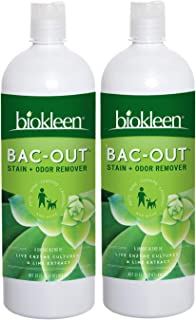 Biokleen Bac-Out Stain and Odor Remover - 2 Pack - for Pet Urine, Laundry, Diapers, Wine, Carpets, More, Ec...