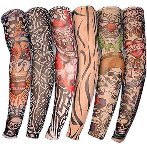 Fake Temporary Tattoo, 6 Stück Body Art Arm Ärmel Zubehör für Männer Frauen Mädchen