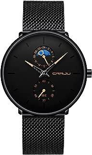 Relojes Hombres De Moda Casual Hombre Relojes De Malla Ultra Fino Negro para Hombres Relojes Deportivo Reloj Hombre de Cuarzo Impermeable