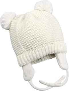 Bestjybt Baby Hat Cute Bear Infant Toddler Earflap Fleece Lined Beanie Warm Caps for Fall Winter