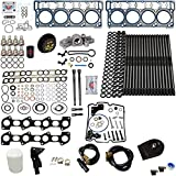 6.0L Revive #4 Kit w/Aftermarket Studs OE Head Gaskets Oil Cooler Stand Pipes Coolant Filtration Blue Spring Gskts STC - Fits Ford 6.0L Powerstroke Kit - 03-05.5 18MM Dowel - DK Engine Parts (18-4R)