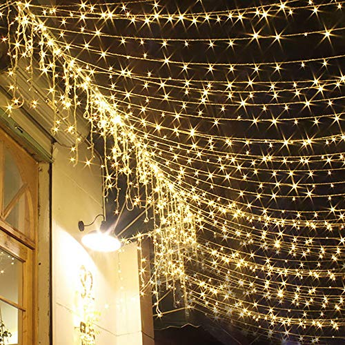 HAITRAL Solar Powered String Lights LED String Lights 33 ft with 100 LEDs Waterproof Outdoor & Indoor Decorative Lights for Christmas