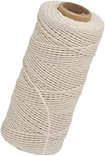 HellDoler Macrame Cord 1mm x 450m,Natural Cotton Macrame Rope White String Soft Cotton Rope for Wall Hanging,Plant Hangers,Crafts,Knitting,Decorative Projects