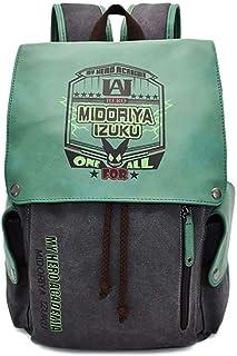 Boku No Hero Academia Mochila My Hero Academia Mochilas Deku Izuku Midoriya Mochila Escolar de Lona Mochila para Estudiantes De Vuelta a la Escuela