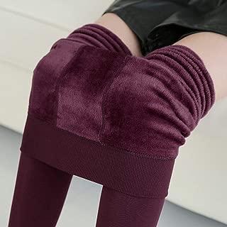 Leggins para Mujer Invierno Cálido De Felpa De Cachemira Leggings Casuales Gruesas De Cintura Alta Elástico Delgado Fitness Gimnasio Legging #5 $ (Color : Red)