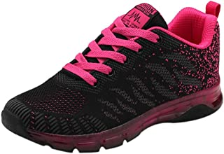0427d3bf Logobeing Zapatillas de Deporte con Cojines de Aire Calzado de Running Net  para Estudiante Volar Zapatos