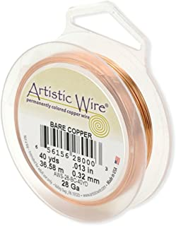 Beadalon Artistic, 22 Gauge, Bare Copper, 15 yd (13.7 m) Craft Wire