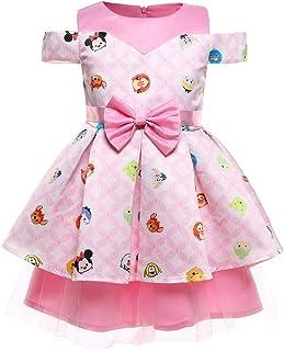 ガールズウェディングドレス 中小の子供たちのドレスプリントプリンセスドレス子供たちのドレス 誕生日イブニングボールガウン (サイズ : 150cm)