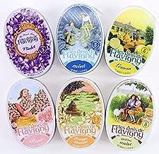 Les Anis De Flavigny Mints 6-Flavor Variety: One 1.75 oz Tin Each of Original Anise, Orange Blossom, Rose, Violet, Lemon and Mint (Pack of 6)