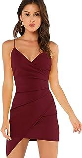 bfaab073408b Amazon.es: Vestido Rojo Asimetrico