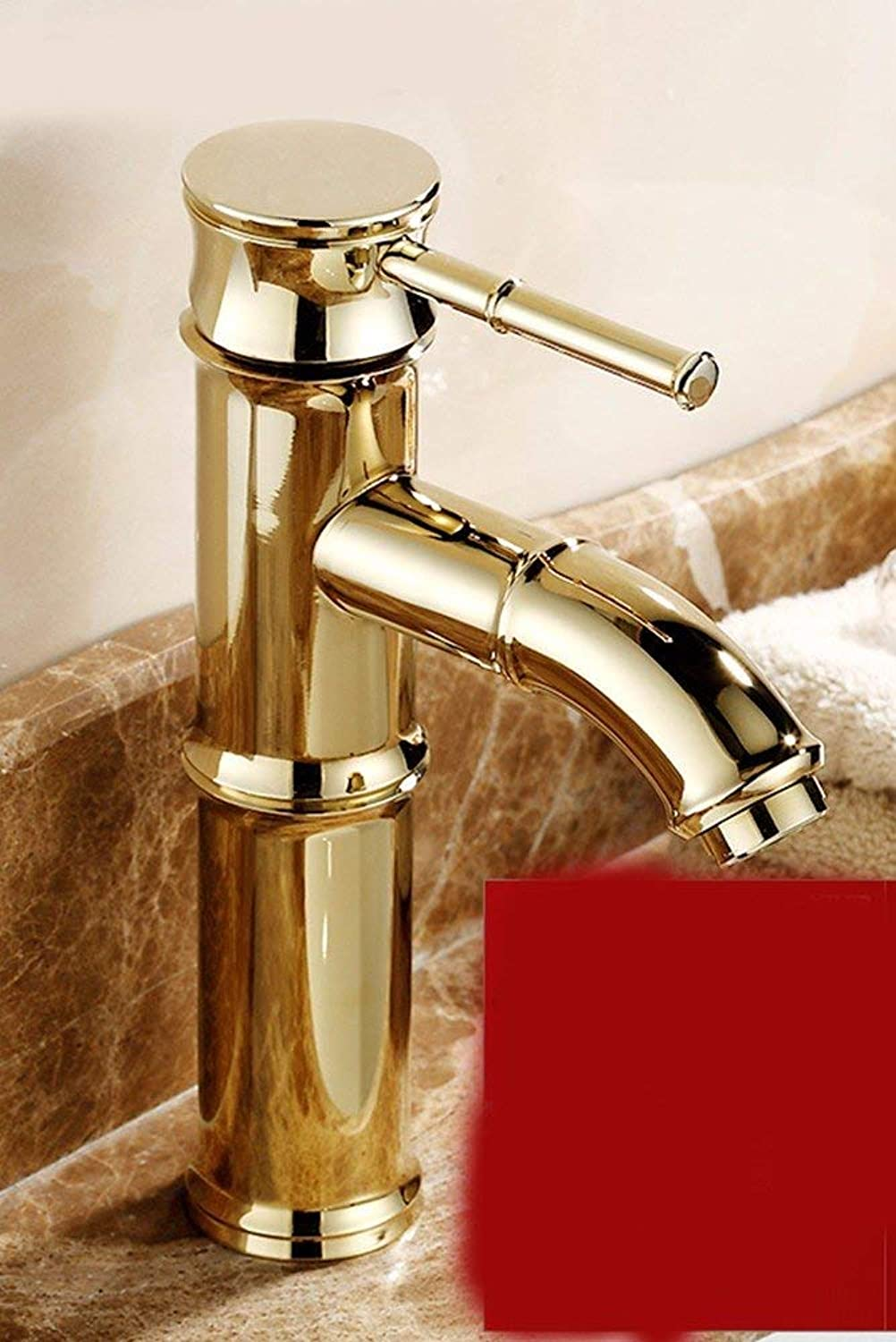 Oudan European Style Retro Hot And Cold All Copper Single Handle Single Hole Sink Faucet L