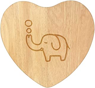 'Bubble Elephant' Wooden Heart Shaped Chopping / Cutting Board (WB00044667)