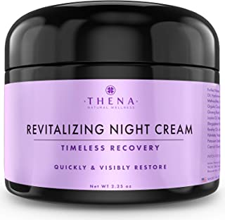 Night Cream Anti Aging Wrinkle Cream With Hyaluronic Acid Vitamin A&C, Organic Natural Face Moisturizer & Under Eye Cream For Dark Circles, Rapid Repair Facial Lotion For Dry Sensitive Skin Women Men