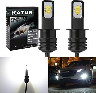 KaTur 2400 Lumens Extremely Bright Newest 3570 Chipets H3 LED Fog Light Bulbs Only for Daytime Running Light DRL or Fog Lights, Xenon White (H3 White)