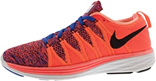Womens Flyknit Lunar Fabric Low Top Lace Up Running, Black, Size 10.0