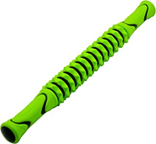 FEGSY Manual Massage Stick Legs Roller with Trigger Point Muscle Roller for Physical Acupressure Therapy (Green)