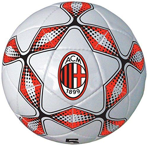 Mondo Toys - Pallone da Calcio cucito A.C Milan adulto/bambino - size 5 - 300 g - Colore rosso/nero - 13276