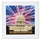3dRose QS 19413 _ 2 Washington DC Patriotische