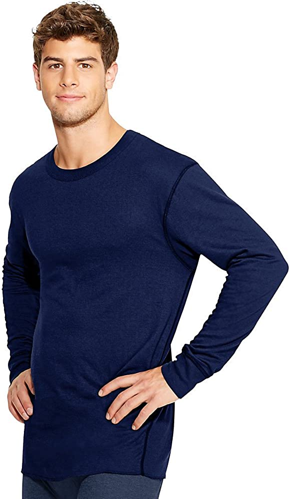 Duofold by Champion Thermals Men's Long-Sleeve Base-Layer Shirt, Navy