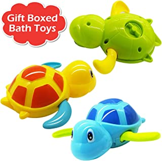 Wind-up Swimming Animal Toy Child Baby Boy Girl Bath Time Clockwork Float YL
