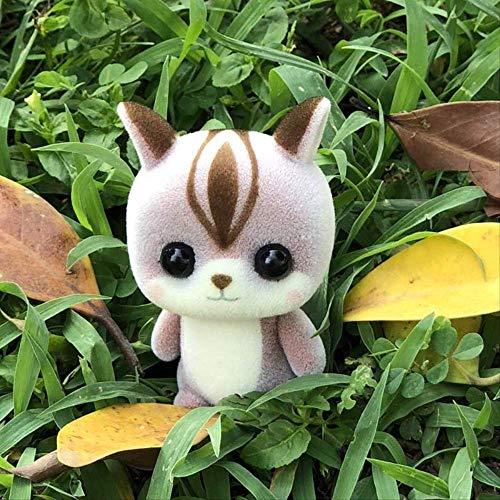 DOUFUZZ SNHPP Muñeca de Terciopelo Mochila Creativa decoración muñeca Colgante Colgante de 5-7.5cm Ardilla marrón