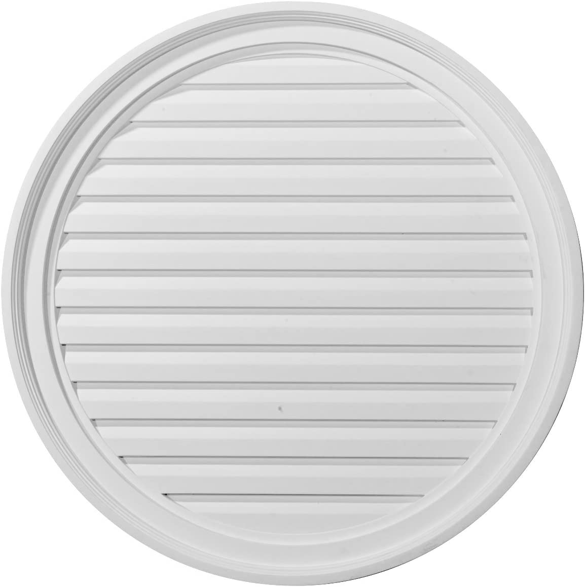 Ekena Popular Millwork GVRO28F Round Louver Vent Max 56% OFF Gable Functional 28