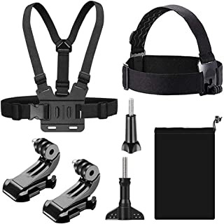 TERSELY [7 in 1] Head + Chest Harness Strap Mount for GoPro Hero 9 8 7 Black 6 5 4 SJCAM Xiaomi Yi Sport Action Camera, wi...