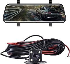"$149 » ilikfe Radar Detector 10"" Mirror Car DVR Rear View Dash Camera Video Recorder Dash Cam 1080P Touch Screen Night Vision G-S..."