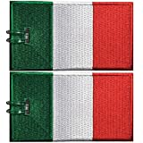 Etichette per bagagli, bandiera italiana, ricamate, 2 pacchi, 9 COLORI, MAI BREAK!