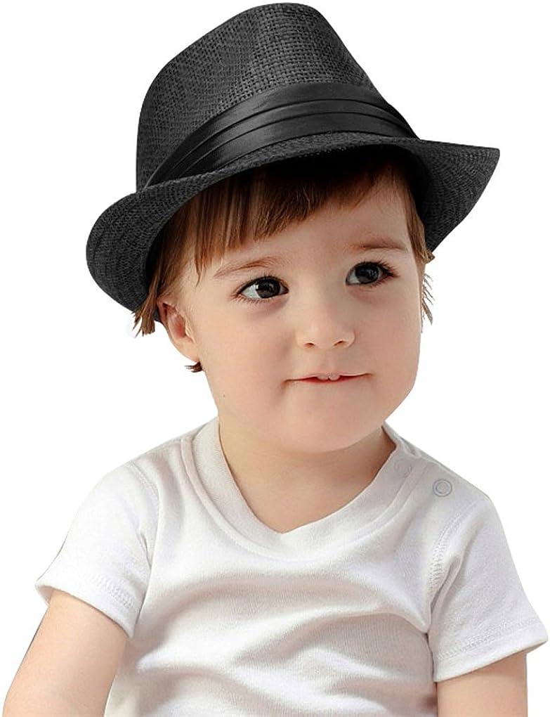 Kids Summer Fedora Hat Classic Vintage F Panama Special Campaign Short Straw Brim Max 71% OFF